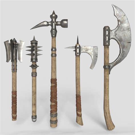 Medieval weapons 3D model - TurboSquid 1336630