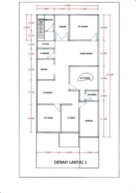 denah rumah  kamar tidur  garasi desain rumah