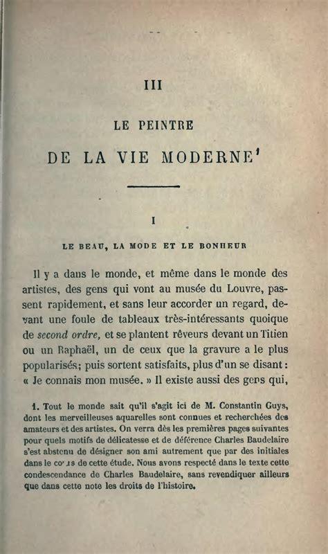 peintre de la vie moderne baudelaire page baudelaire l romantique 1869 djvu 61 wikisource