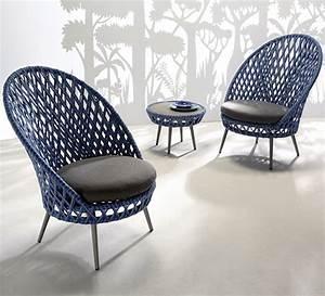 Salon Jardin 2 Places : ensemble fauteuils de jardin 2 places panama tress bleu 779 salon ~ Teatrodelosmanantiales.com Idées de Décoration