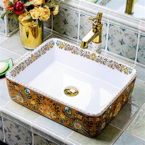Colorful Bathroom Sinks by Modern Style Porcelain Wash Basin Colorful Ceramic Sink