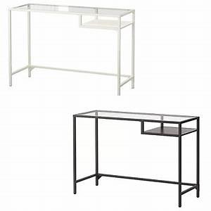 Ikea Schreibtisch Glas : ikea vittsj laptoptisch in schwarzbraun wei glas 100x36cm schreibtisch tisch eur 37 90 ~ Watch28wear.com Haus und Dekorationen