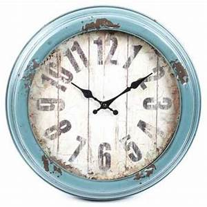 antique blue distressed metal wall clock hobby lobby With best brand of paint for kitchen cabinets with metal wall clock art