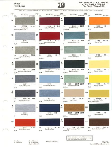interior trim color chart ford truck enthusiasts forums