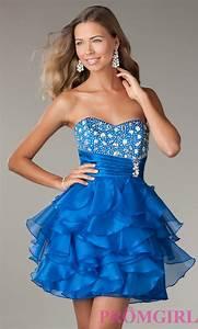 +30 vestidos de 15 au00f1os largos y cortos en color azul - Vestidos Glam