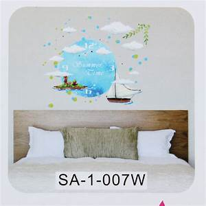 Diy cute wall clock sticker paper decal home kids bedroom