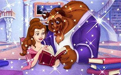 Belle Reading Beast Beauty Disney Gifs Princess