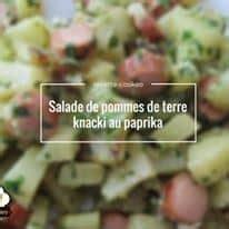 salade de pommes de terre knacki au paprika recette cookeo