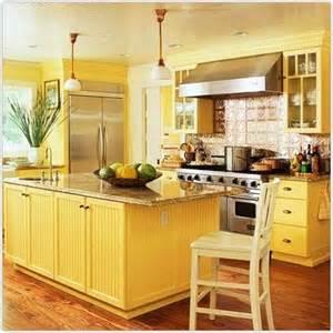 Yellow Kitchen Cupboards