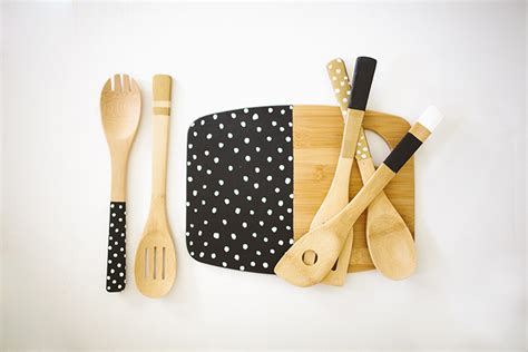 sincerely kinsey painted kitchen utensils diy inspiration
