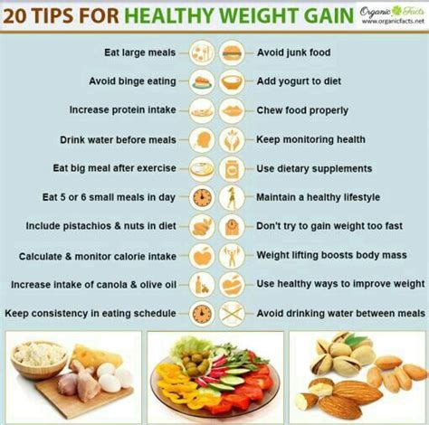 It's crucial that you focus on foods with a particularly high nutrient content instead of those with empty calories — check out coach lisa's article on the subject. Weight Gain Tips   Wiki   Fitness Amino
