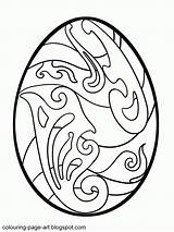 Easter Egg Coloring Eggs Printable Patterns Colouring Bright Popular Coloringhome sketch template
