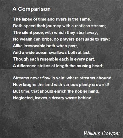 comparison poem  william cowper poem hunter