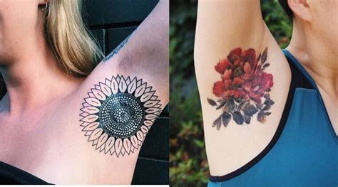 Armpit tattoo is the latest beauty trend to take over