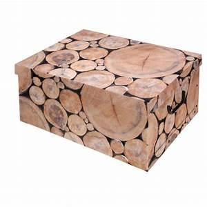 Aufbewahrungsbox Mit Deckel Holz : aufbewahrungsbox mit deckel allzweckkiste pappbox kiste karton box holzoptik ebay ~ Bigdaddyawards.com Haus und Dekorationen