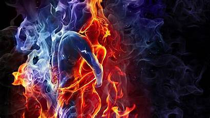 Elemental Fire Water Wallpapers Element Background Flame