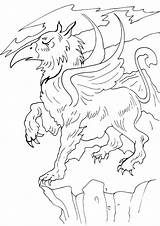 Griffin Coloring Pages Cartoon sketch template
