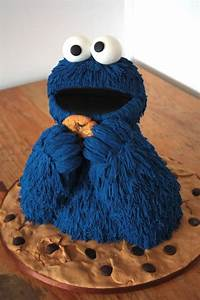 Cookie Monster Cake Cakes Pinterest