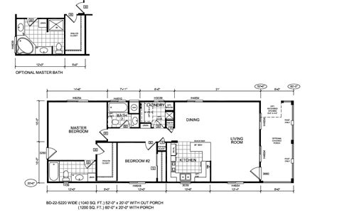 Fleetwood Wide Mobile Home Floor Plans by 20x40 Wide Floorplan Studio Design Gallery