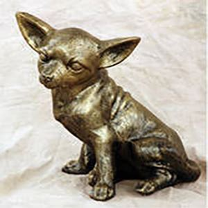 Chihuahua Garden Statue by Sitting Chihuahua Aluminum Garden Statue Poor S