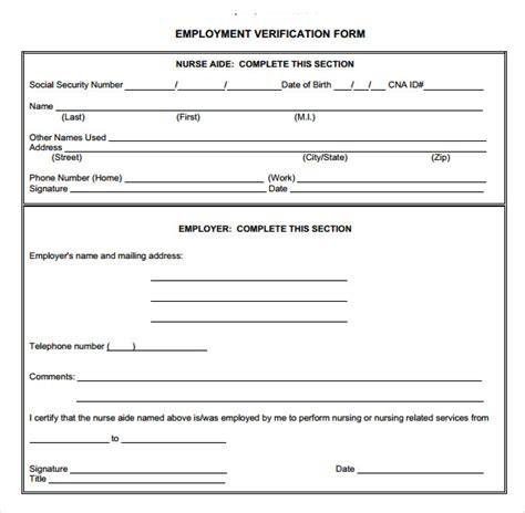va loan va loan verification  employment form