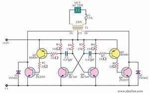 Simple Square-wave Power Inverter Circuit Question
