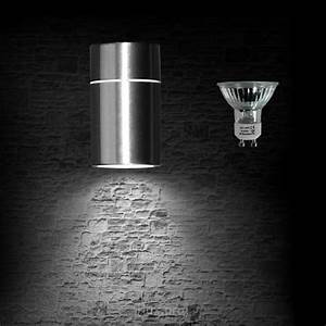 Außenleuchte Edelstahl Led : luxpro led au enleuchte edelstahl wandlampe wandleuchte 3w gu10 energiesparlampe ebay ~ Watch28wear.com Haus und Dekorationen