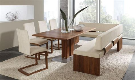 tables chairs modern dining room set  bench