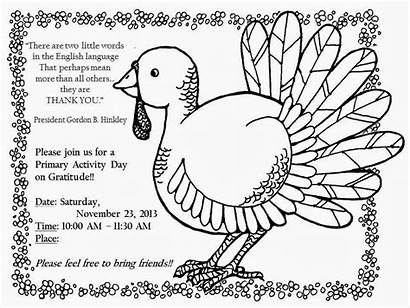 Gratitude Activity Primary Lds Clip Turkey Activities