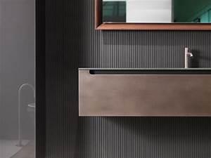 une salle de bains industrielle avec la collection edge en With meuble salle de bain acier