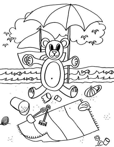 Parasol Kleurplaat by Kleurplaat Strand Parasol Kleurplaten Tekeningen