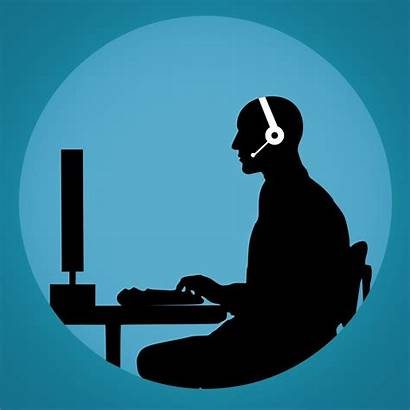 Call Customer Silhouette Support Domain Wfh Normal