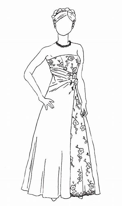 Sketch Drawing Dresses Sketches Short Nightmare Prom