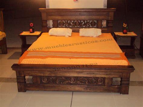 muebles rusticos cama comedor  maciza