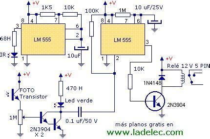 proyectos de electr 211 nica industrial detector de proximidad por infrarrojo electr 243 nica y