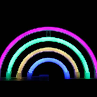 Neon Rainbow Led Sign Battery Lights Lamps