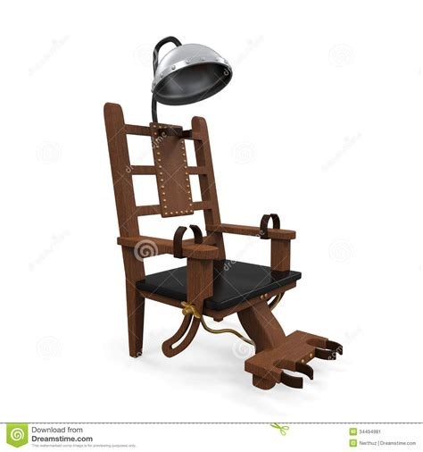 execution en direct chaise electrique chaise 233 lectrique d isolement image stock image 34494981