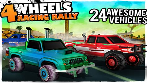 monster truck race games app shopper 4 wheels racing rally 3d monster truck race