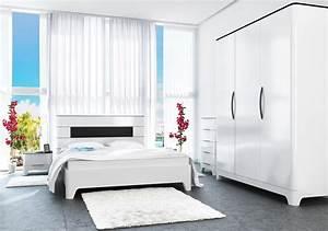 Schlafzimmer Komplett Weiß : schlafzimmer komplett mit kleiderschrank schwarz wei hochglanz neu komplett schlafzimmer ~ Orissabook.com Haus und Dekorationen
