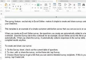 customer satisfaction survey template for excel With customer survey email template