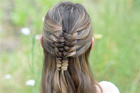 floating infinity braid cute girls hairstyles