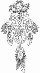 Catcher Coloring Dream Pages Catchers Colouring Dreamcatcher Adults Tattoo Drawings Designs Dragon Native Indian Feathers Dreams American sketch template