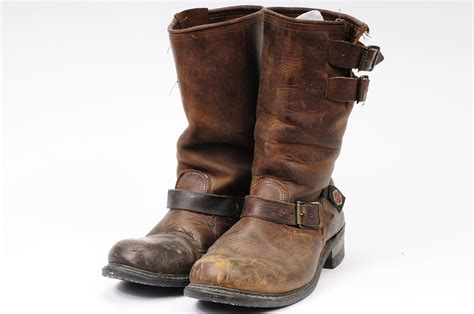 brown leather harley boots harley davidson size 9 engineer boot brown motorcycle boot