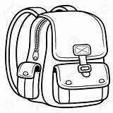 Clipart Backpack Bag Outline Clipartmag sketch template