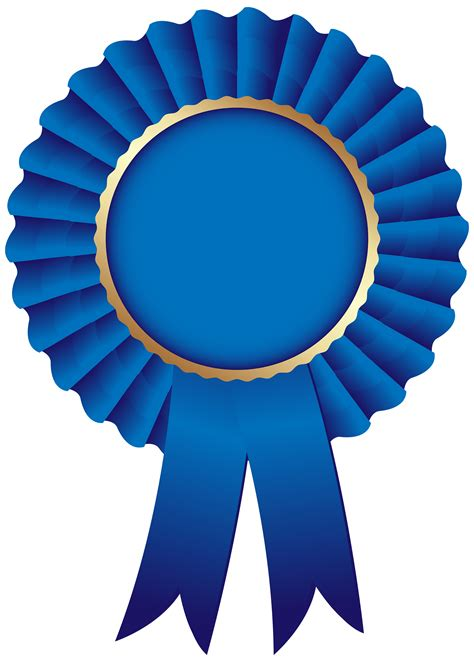 Blue Ribbon Clip Circle Clipart Ribbon Pencil And In Color Circle Clipart