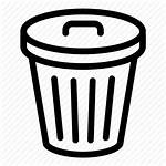 Bin Icon Recycle Trash Garbage Delete Outline