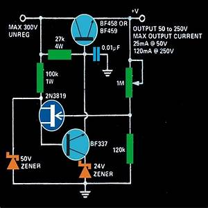 Variable 0 To 300 Volts  Regulated Power Supply Circuit Diagram