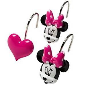 amazoncom disney minnie mouse and hearts bath shower With minnie mouse bathroom accessories