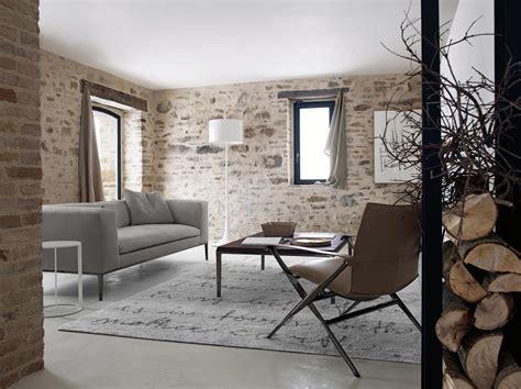 Wohnzimmer Wand Steine by Rustic Wall Interior Design Ideas