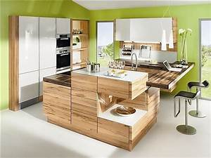 Küche U Form Mit Theke : designk che lugano in kernbuche und wei ~ Michelbontemps.com Haus und Dekorationen